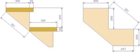 Оптимальная высота ступеньки должна составлять 160-170 мм