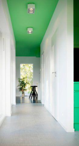 Отделка потолка краской