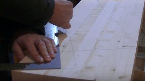 Разметка доски под резку