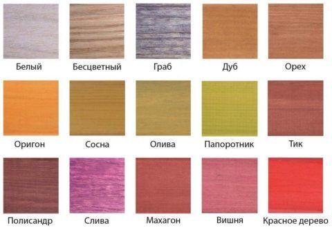 Тонирующие краски сохраняют текстуру дерева, но придают ей определенный оттенок