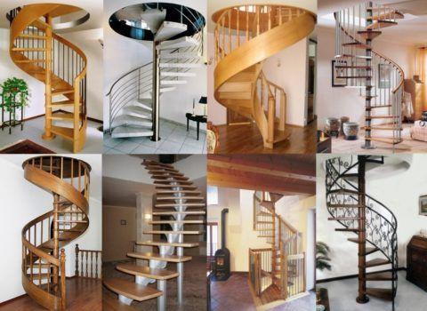 Винтовые лестницы разного вида