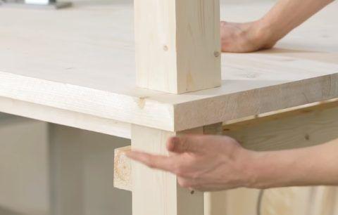 Выравнивание мебельного щита