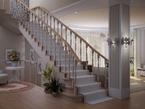 Деревянные лестницы, стиль прованс