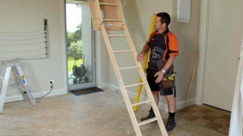 Длина лестницы не соответствует высоте помещения