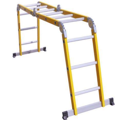 Для электриков оптимальным решением является диэлектрическая лестница трансформер