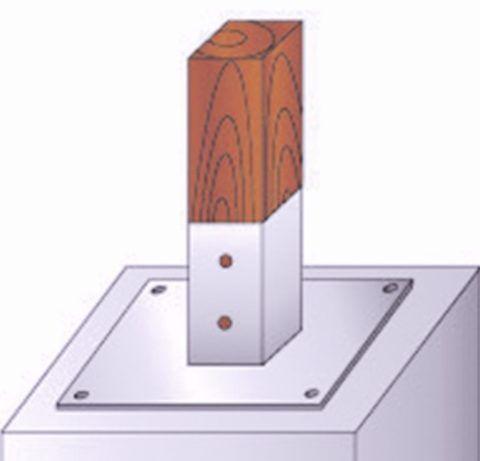 Для крепления стоек к полу можно использовать стаканы