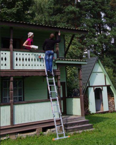 Для ремонтных работ на дачном участке такая лестница просто необходима