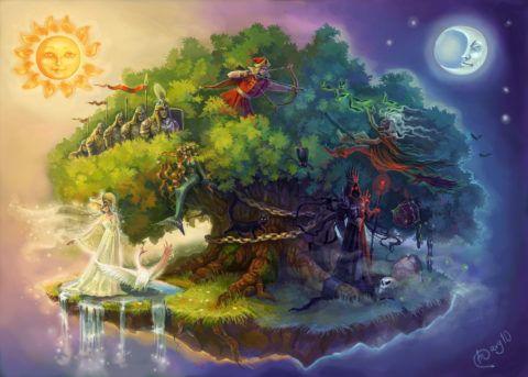 Дуб, как таинственный и сказочный персонаж широко известен, во многом благодаря бессмертному произведению А.С. Пушкина