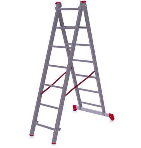 Двухсекционная лестница трансформер Новая Высота может устанавливаться лишь в двух положениях