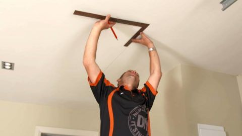 Как сделать раскладную лестницу на чердак: разметка под люк