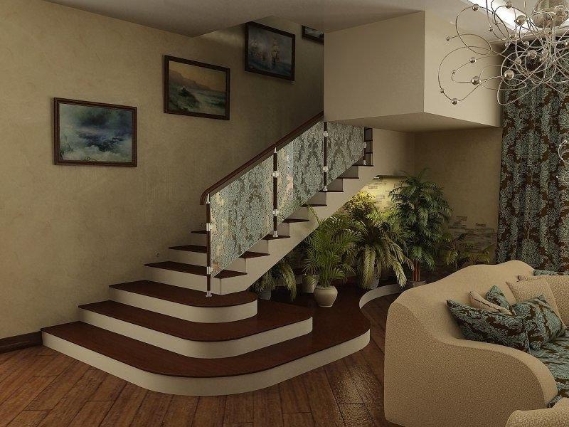 Покраска лестницы в два цвета фото через полтора