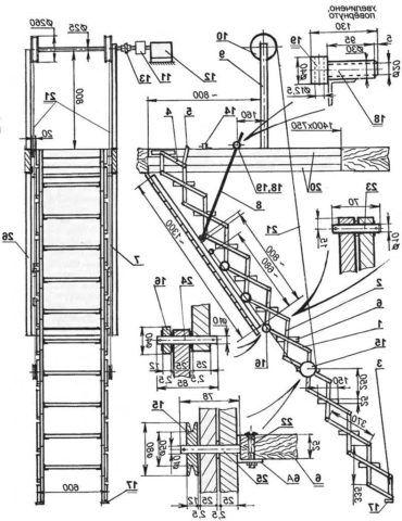Лестница на чердак раскладная своими руками - чертежи