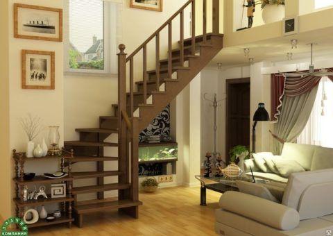 Лестница в гостиной