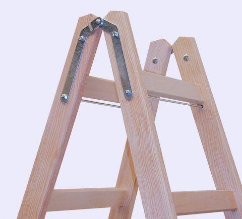 Лестницы деревянные строительные типа стремянка наиболее удобные и безопасные