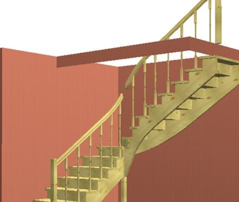 Лестницы в подвальные помещения: эскиз деревянной входной системы
