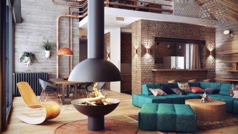 Лофт в интерьере современного дома