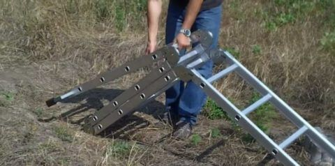 Малый вес позволяет переносить лестницу на большие расстояния