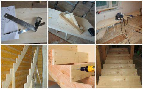 Основные этапы изготовления деревянной лестницы