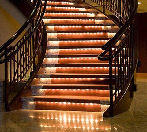 Освещение спиральной лестницы