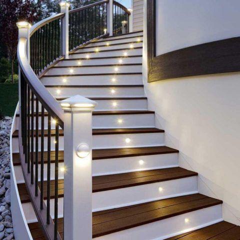 Освещение ступенек наружной лестницы