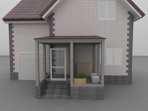 Проект дома с закрытым крыльцом