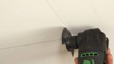 Резка потолочной обшивки