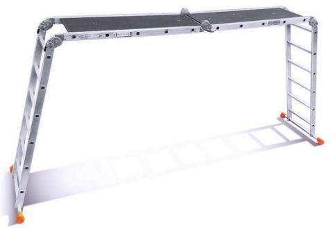 Самая высокая лестница трансформер Эйфель 2х5 2х6 классик имеет длину 6,2 м