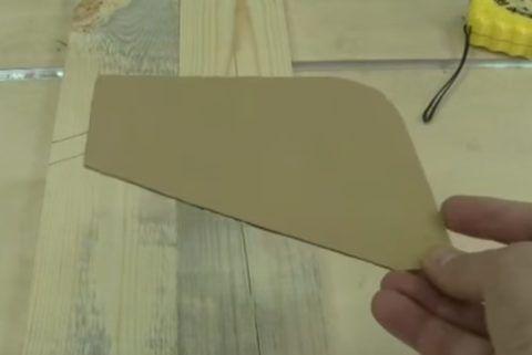 Шаблон из картона