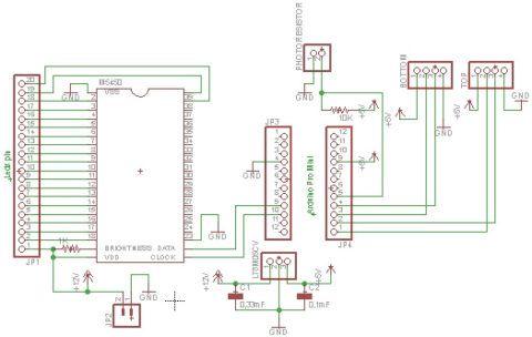 Схема освещения лестничного марша Arduino