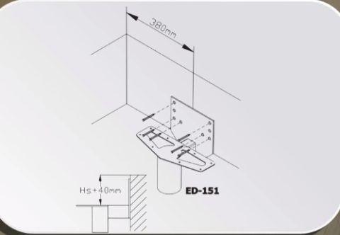 Схема установки верхнего элемента