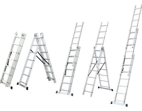 3 х секционные универсальные лестницы: способы использования
