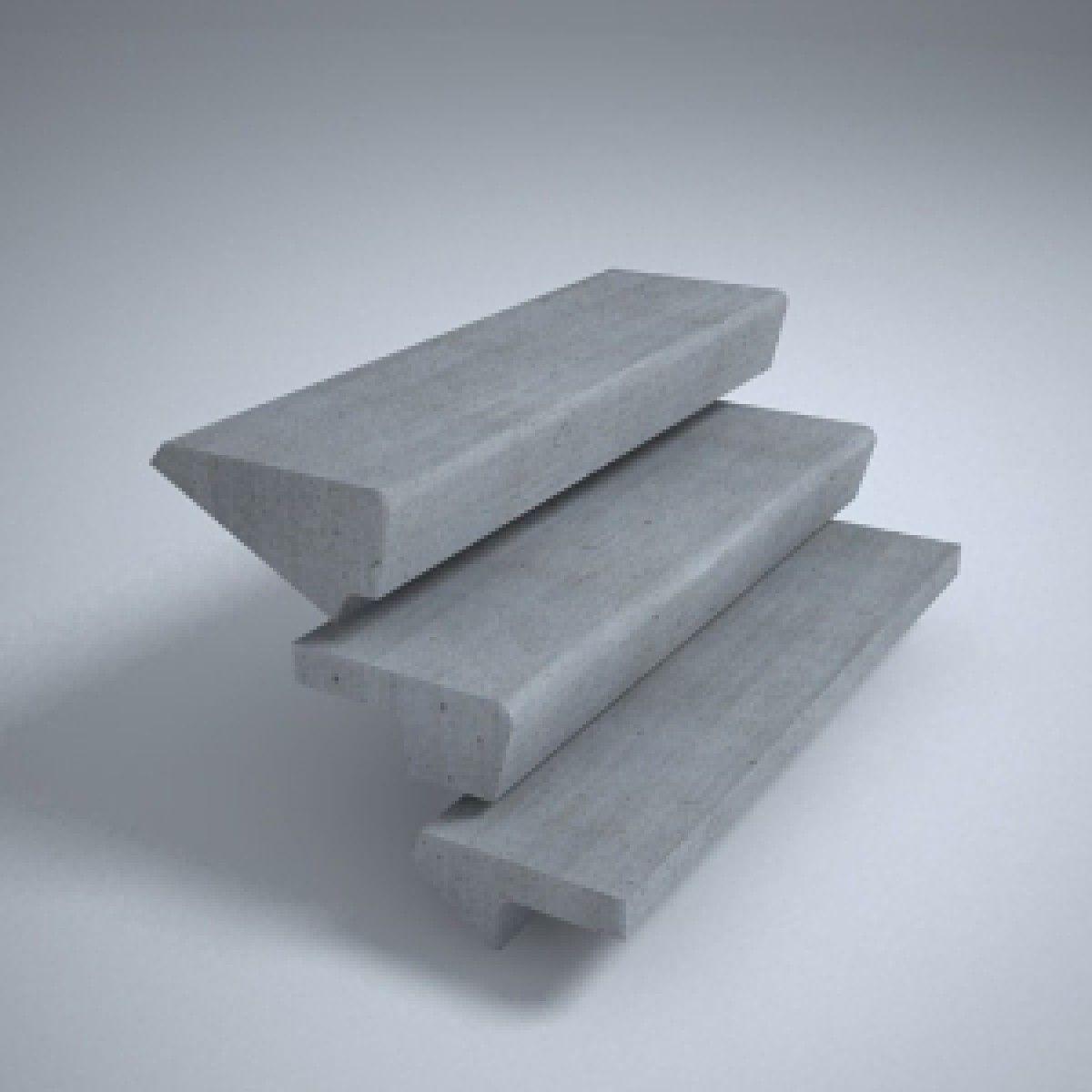 На фото различные по форме готовые железобетонные ступени