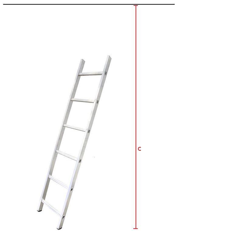 С – рабочая высота лестницы