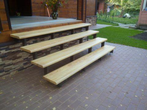 Деревянные ступени подлежат обязательной антисептической обработке