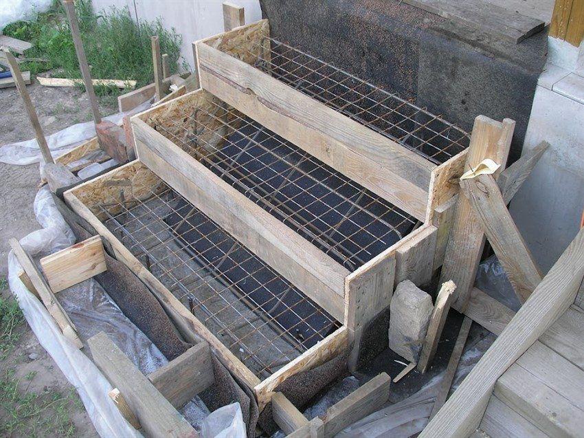 Заливка крыльца бетоном бетона r0