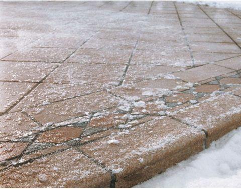 Клинкерным ступеням не страшны продолжительные морозы и оттепели