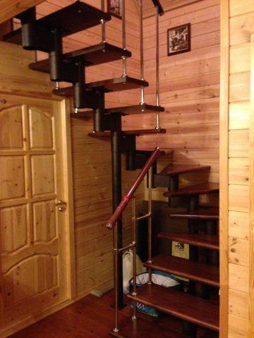 Лестница мл 1 из бука модель «эконом»