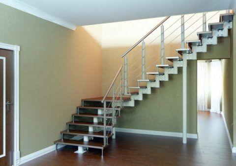 Лестница на одном косоуре и больцах