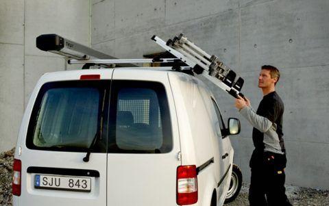 Лестница раскладная трехсекционная, перевозимая на легковом автомобиле