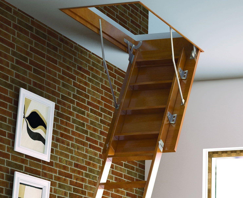Лестница своими руками из дерева на крышу или чердак: здесь достаточно проёма минимального размера