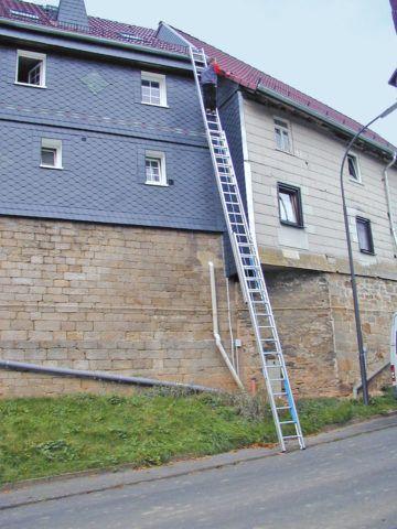 Лестницы металлические трехсекционные
