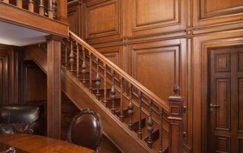 Лестницы: облицовка деревом - дуб