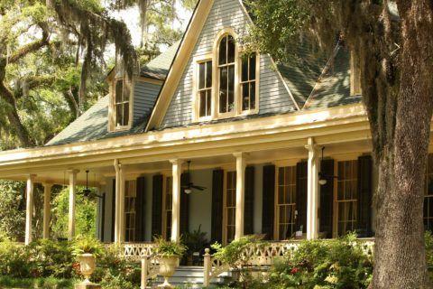На фото – дом с открытой террасой