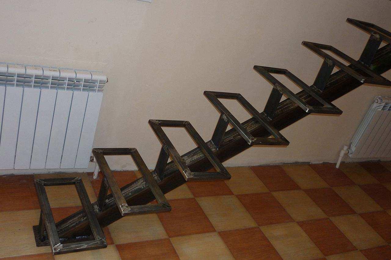 Лестница своими руками из металла чертеж фото 144
