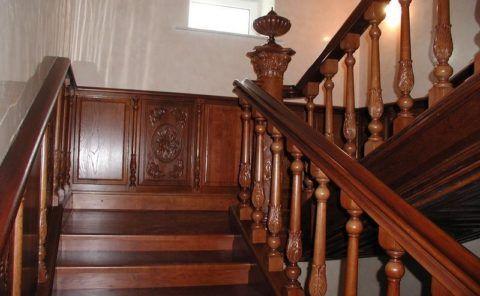 Перила для лестниц из дуба