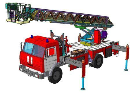 Пожарная автомобильная лестница весьма серьезный механизм со сложными конструкторскими решениями