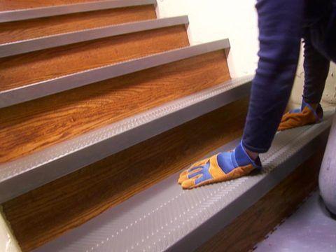 Противоскользящие накладки на деревянные ступени