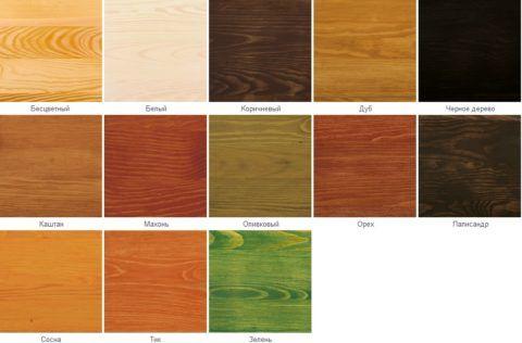 С помощью морилки дереву можно придать различные цвета