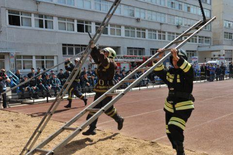 Соревнования среди пожарных