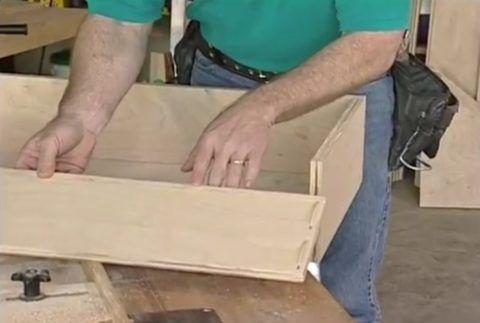 Строение ящика